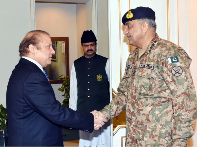 nawaz sharif and general qamer javed bajwa