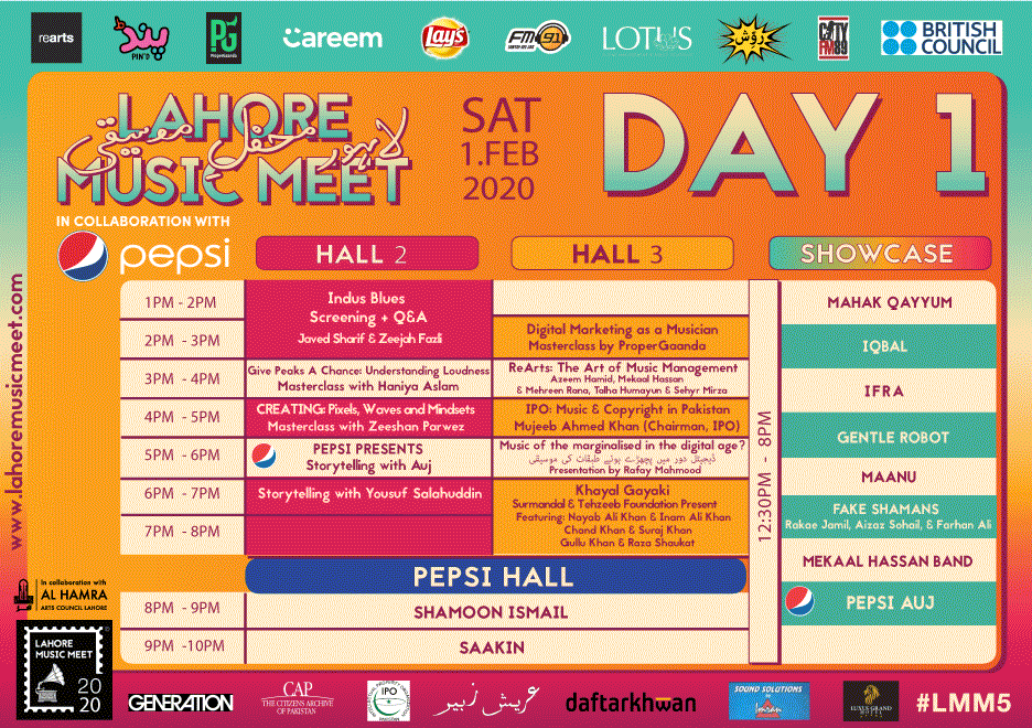 Lahore Music Meet 2020 - Day-1 Schedule [F]