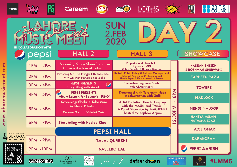 Lahore Music Meet 2020 - Day-2 Schedule [F]